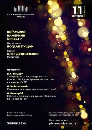 В.А. Моцарт, П. Чайковський. Київський камерний оркестр