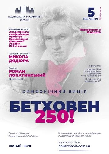 Абонемент №10: Бетховен-250! Роман Лопатинський (фортепіано)